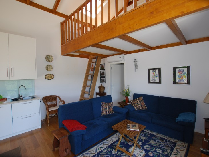 Casa da Eira - escada de acesso ao mezzanine