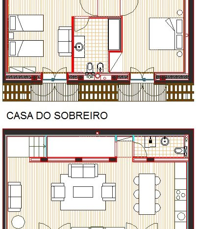 Casa do Sobreiro - Plan for the two floors